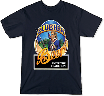 Blue Hen Beer Men's Navy Blue T-Shirt
