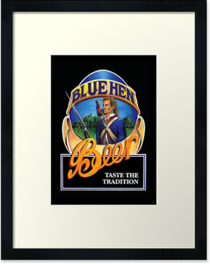 Blue Hen Beer framed art print