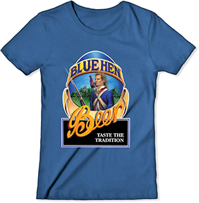 Blue Hen Beer Women's Royal Blue T-Shirt